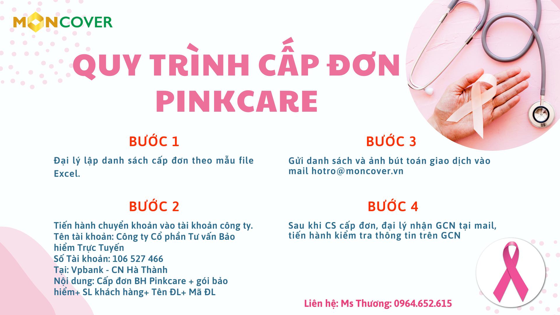 Quy trình cấp đơn Pinkcare