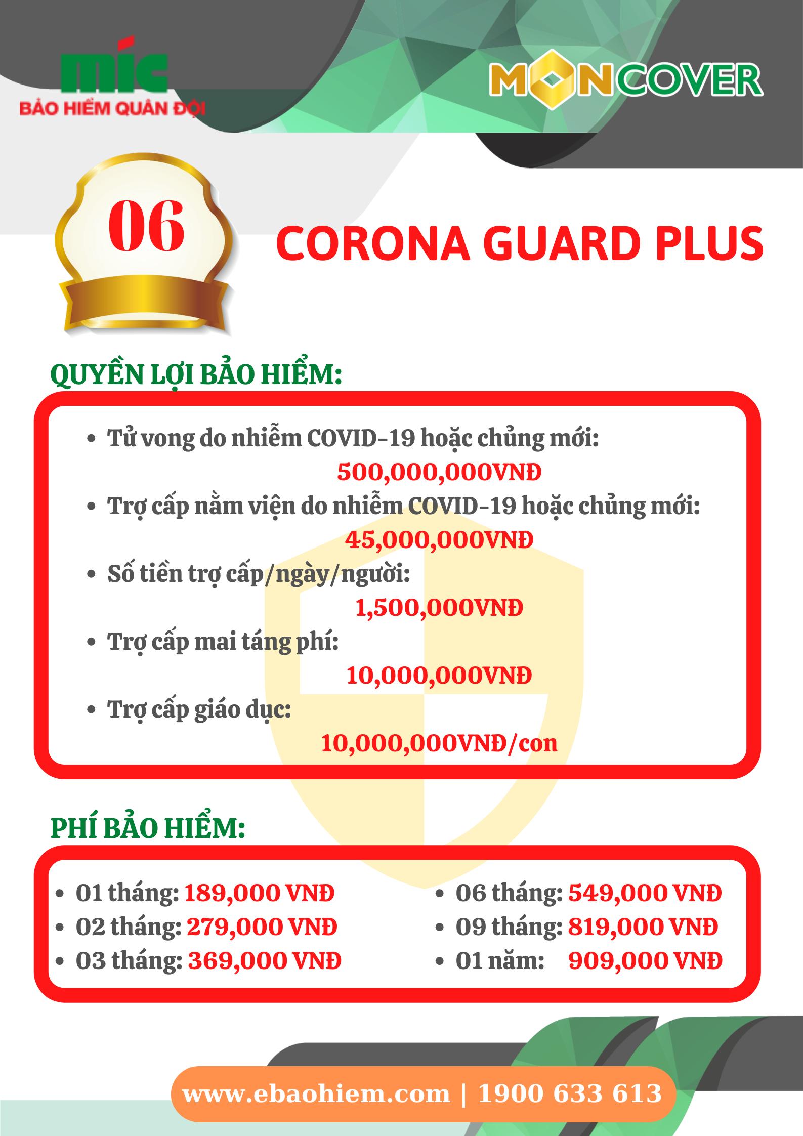 Bảo hiểm CORONA GUARD PLUS