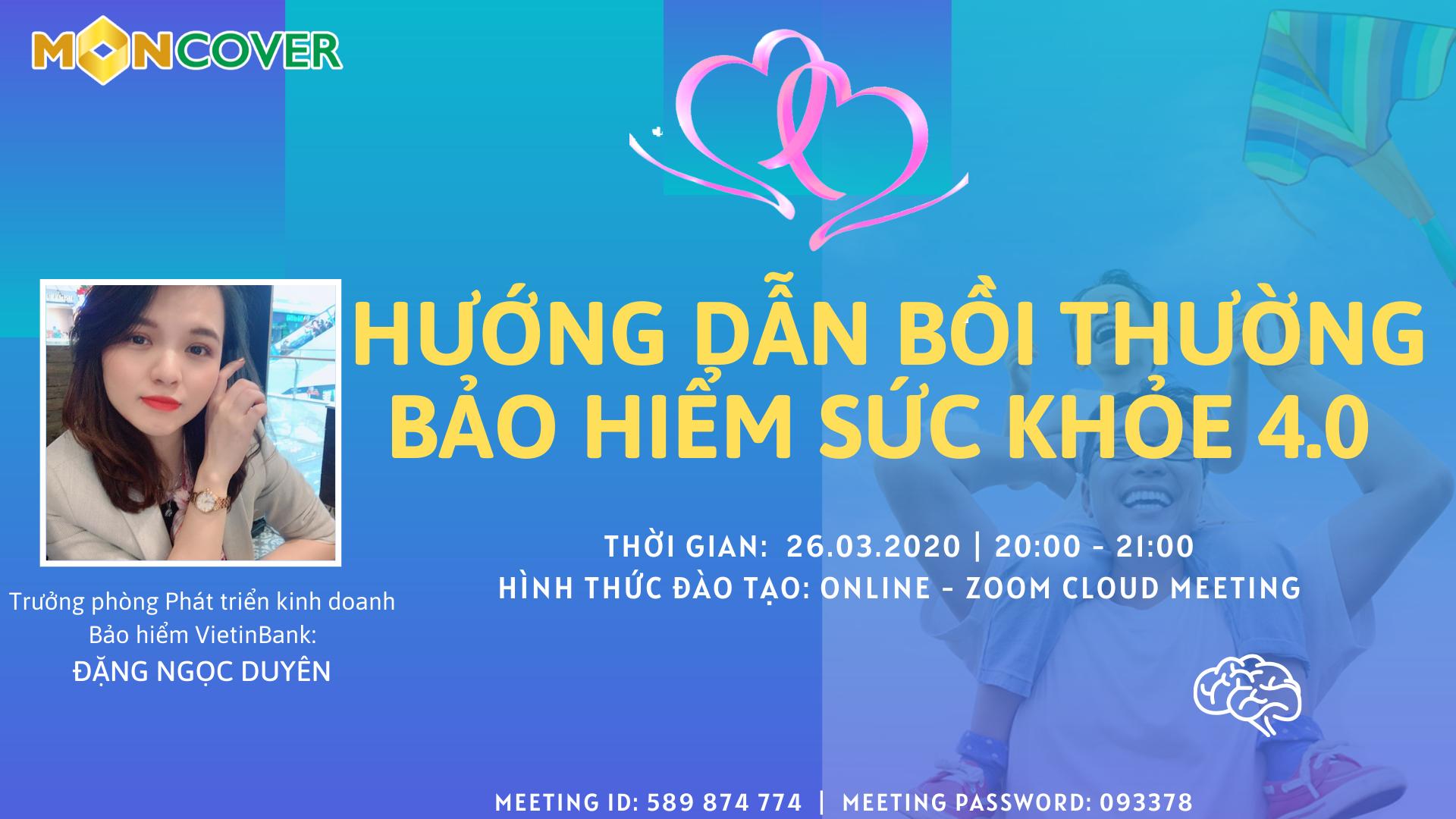 LỊCH ĐÀO TẠO TRÊN ZOOM CLOUD MEETING NGÀY 26.03.2020
